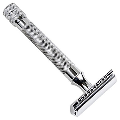 Parker - 64S - Safety Razor w/ Closed Comb Head - Stainless Steel - 64S - St. Nick's Knives