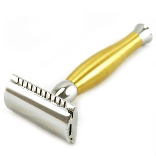 Parker - Chrome and Brushed Brass Safety Razor - 48R