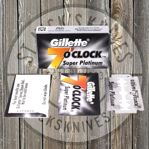 Parker - Gillette 7 O' Clock - Super Platinum Black - 100 Count - 7OC Black