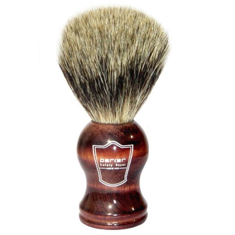 Parker - Safety Razor - Rosewood Handle w/ Pure Badger Brush - RWPB