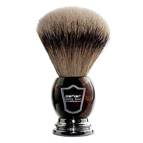 Parker - Shave Brush - Faux Horn Handle - Silver Tip Badger - HHST