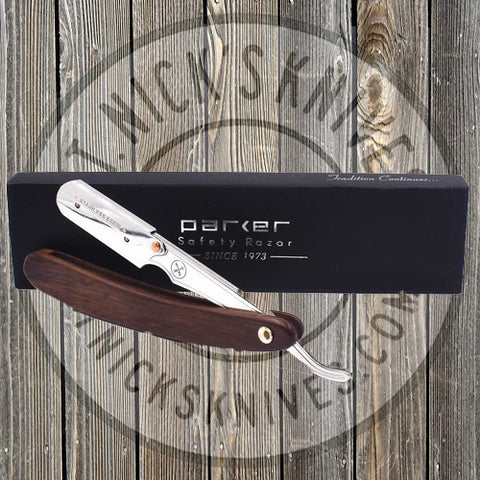 Parker - Straight Razor - Dark Sheesham Wood - Half Razor - SRDW