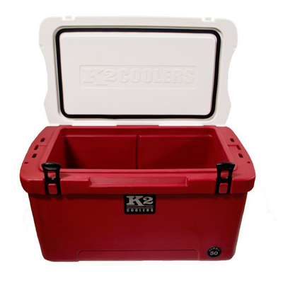 K2 Coolers - Summit - 50qt - Crimson/White - S50CW - St. Nick's Knives