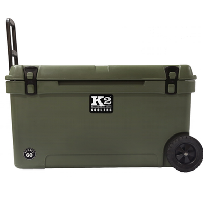 K2 Coolers - Summit - Wheeled - 60qt - Green - SW60GN