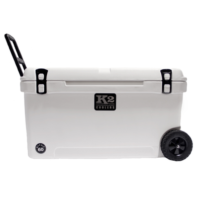 K2 Coolers - Summit - Wheeled - 60qt - White - SW60W - St. Nick's Knives