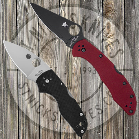 Spyderco - Exclusive - Combo Pack - Lil' Native/Delica - Plain Edge - Red G10 - SPYCOMBOPK4