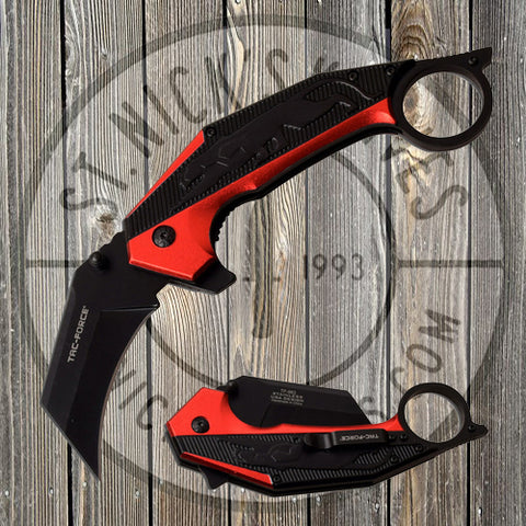Tac-Force - Spring Assisted - Red - Karambit - TF-983RD