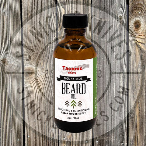 Taconic Shave - Beard Oil - Urban Woods - 2 oz - TSBRDO-UW - St. Nick's Knives