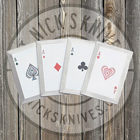 Throwing Cards - 4 pc. Set - Aces - JL-4A