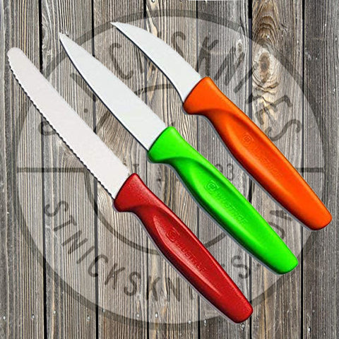 Wusthof - ZEST - 3pc Paring Knife Set - Colored Handles - 9335C