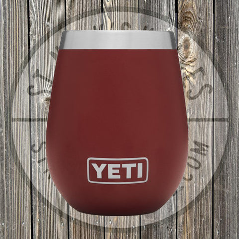 YETI - 10oz - Wine Tumbler - 21071300057 - Brick Red - YTUM10BR
