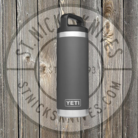 YETI - Rambler - 18oz Bottle -  21071060010 - Charcoal - YRAM18CH