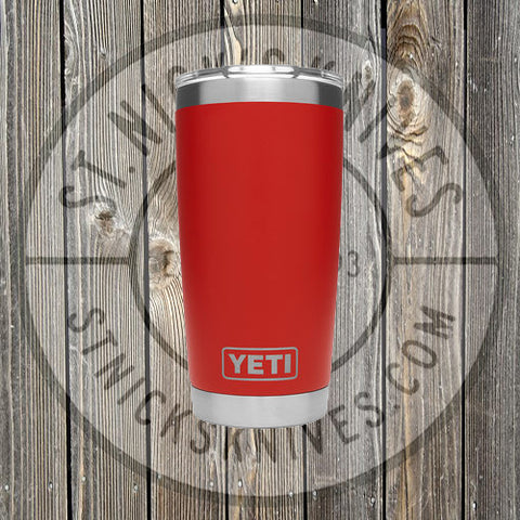 YETI - Rambler - Canyon Red - 888830049983 - 20oz w/ Magslider Lid - YRAM20CR