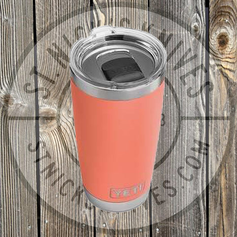 YETI - Rambler - Limited Edition - Coral - 20oz w/ MS - YRAM20LEC - St. Nick's Knives