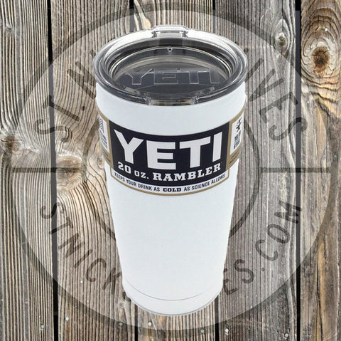 YETI - Rambler - White - 20oz w/ MS - YRAM20W - St. Nick's Knives