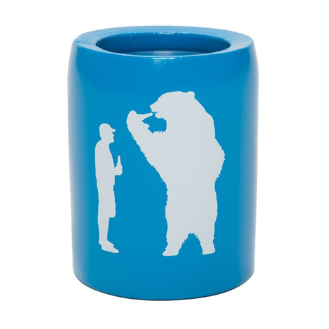 YETI Coolers - Beer with Bear - Can Insulator - Bahama Blue - YKSBEAR - St. Nick's Knives