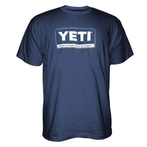 YETI Coolers - Billboard T-Shirt - Navy - Large - YTSBBNBL - St. Nick's Knives