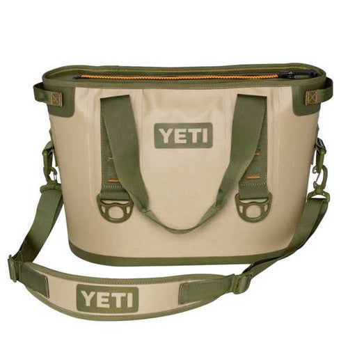YETI Coolers - Hopper 20 - 20qt - Field Tan & Blaze Orange - YHOP20T