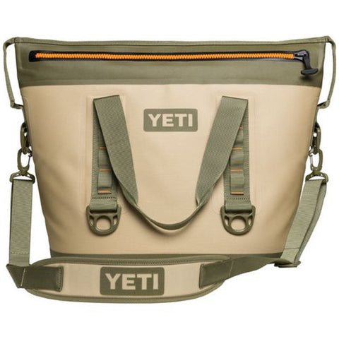 YETI Coolers - Hopper 30 TWO - 30qt - Field Tan & Blaze Orange - 18025150000 - St. Nick's Knives