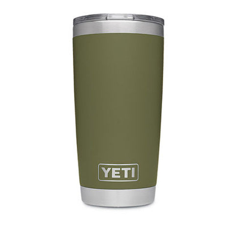 YETI Coolers - Tumbler - 20oz - Rambler w/ MagSlider Lid - Duracoat - Olive Green - 21070060019
