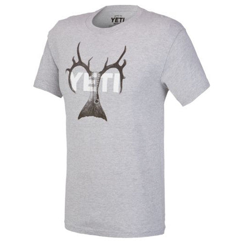 YETI Coolers - Whitetail Redfish Combo T-Shirt - Gray - X-Large - YTSWRGRXL