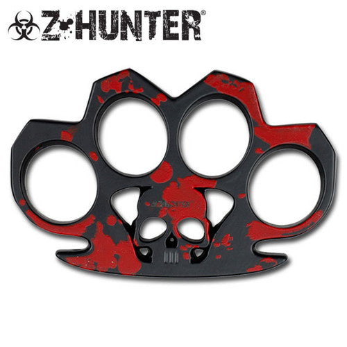 Z-Hunter - Zombie Skull Red Duster Paper Weight - ZB-017R