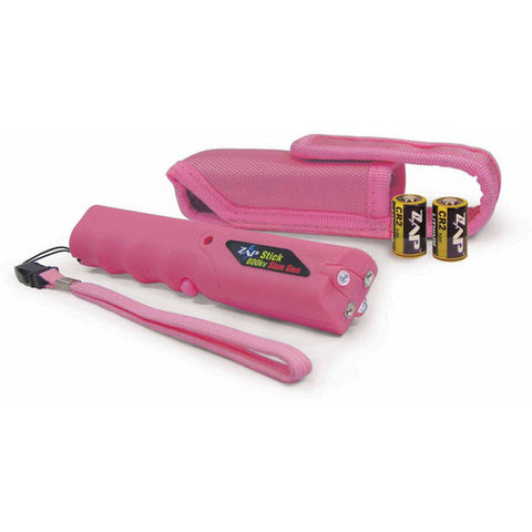 Zap - Zap Stick w/ Flashlight - 800,000 Volts - Pink - ZAPSTK800FPK