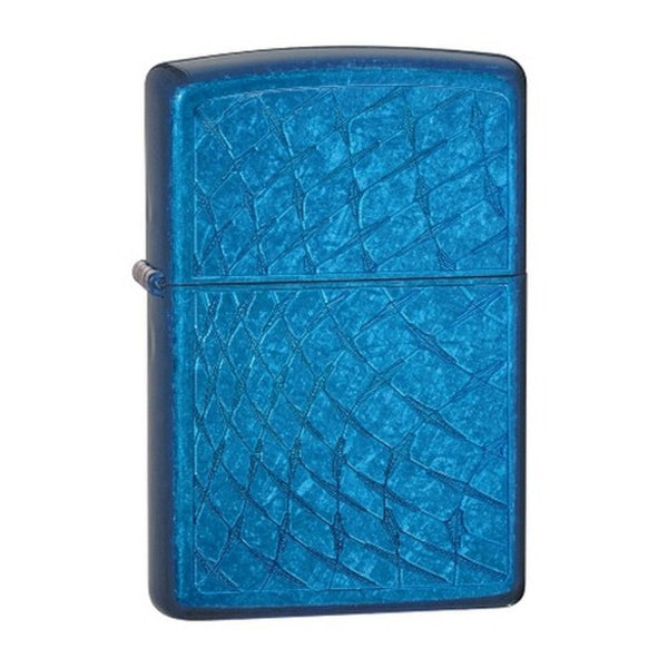 Zippo - Cerulean Iced Diamond Plate Lighter - 28341