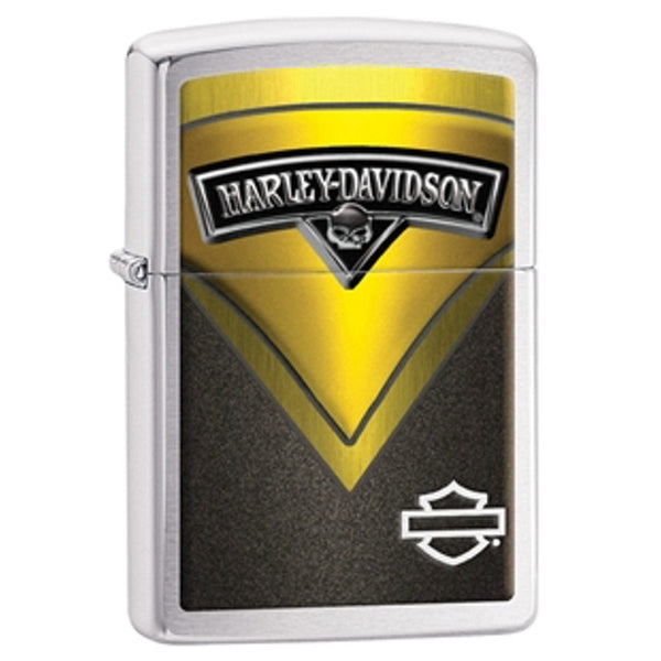 Zippo - Harley Davidson Black and Yellow Lighter - 28821