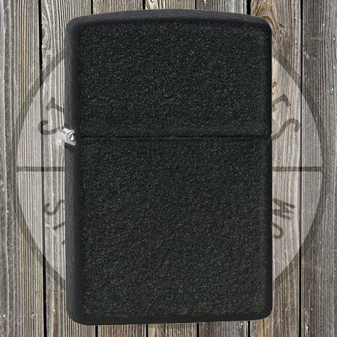 Zippo - Regular Black Crackle - 236