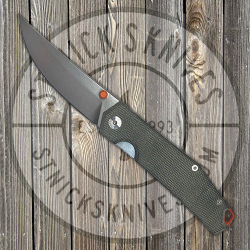 GiantMouse Knives - Ace Clyde - Green Canvas Micarta - Elmax