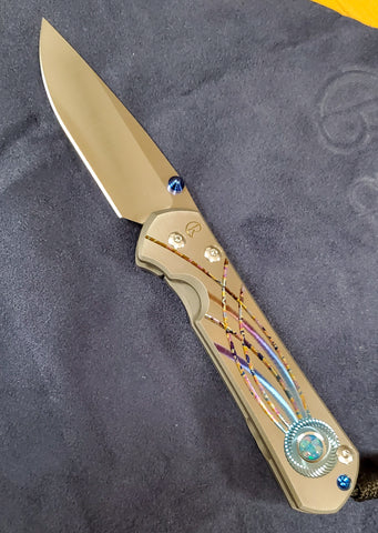 "Chris Reeve - Large Sebenza 31 - Unique - Drop Point - Triple Opal Mosaic - SS20 ""B"" - L31-1400"