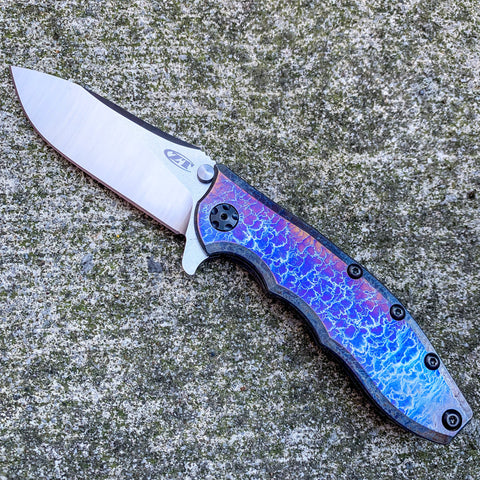 Zero Tolerance 0562Ti - St. Nick's Custom Anodization - Lightning Strike Finish