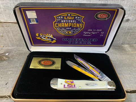 Case - 2019 LSU Championship - Natural Bone - LSU19-CATSB