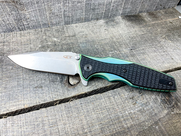 Zero Tolerance 0393SW - St. Nick's Custom Anodization - Green w/ Bronze Highlights