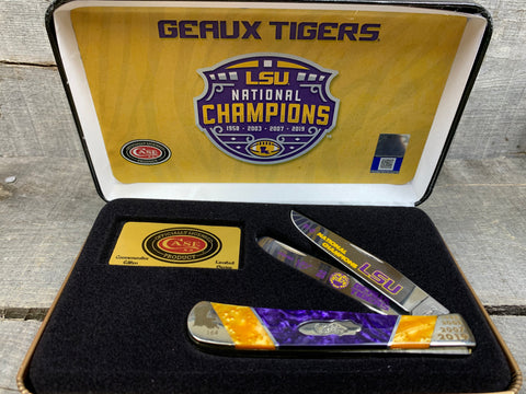 Case - 2019 LSU Championship - Purple & Gold Corelon - LSU19-CATPG