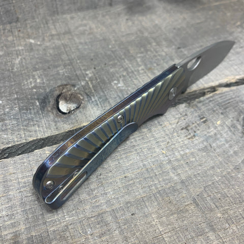 Kizer Zipslip - Lightning Strike Clip and Spring - Ano Fade Handle - St. Nick's Custom Anodization