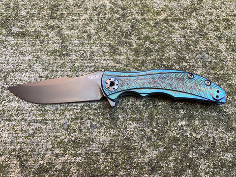 Zero Tolerance Knives 0609PUR - St. Nick's Custom Anodization - Lightning Strike Finish