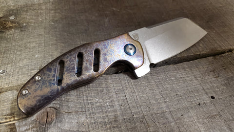 Kizer Sheepdog - Left Handed - St. Nick's Custom Anodization - Lightning Strike Finish