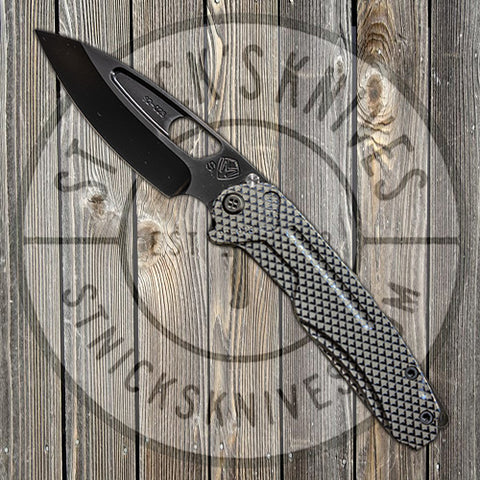 Medford - Infraction - S35VN - PVD Blade Finish - Standard Grind - Gun Grip Handle/Tumbled Spring - MK031SPQ-01TM-SPCP-BP