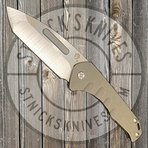 Medford - Praetorian Slim - S35VN - Tumbled Tanto Blade - Bronze Ano Handles - Std. Hardware and Clip