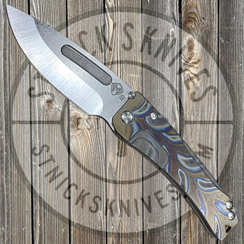 Medford - Slim Midi Marauder - S35VN - Tumbled Finish - Faced/Flamed Handle and Clip - Bronze Anodization - MK201STD-03AN-STCF-Q4