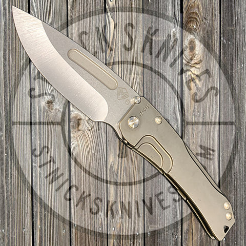 Medford - Slim Midi Marauder - S35VN - Tumbled Drop Point Blade - Tumbled PVD Handles - Std. Clip - Std. Hardware