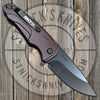 Medford - Smooth Criminal - S35VN - PVD Finish - Drop Point- Red Anodized Handles - MK039MKT