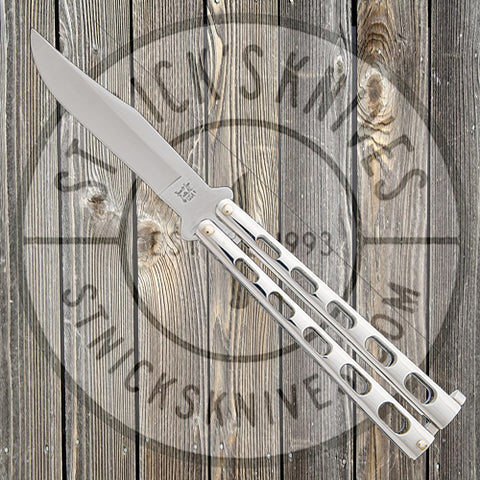 "Bear & Son - 5"" Stainless Steel Butterfly Knife - Bead Blast Finish - SS14"