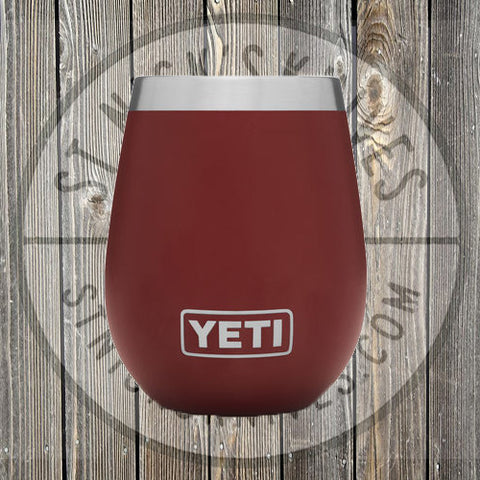 YETI - 10oz - Wine Rambler - 888830031865 - Brick Red - YTUM10BR