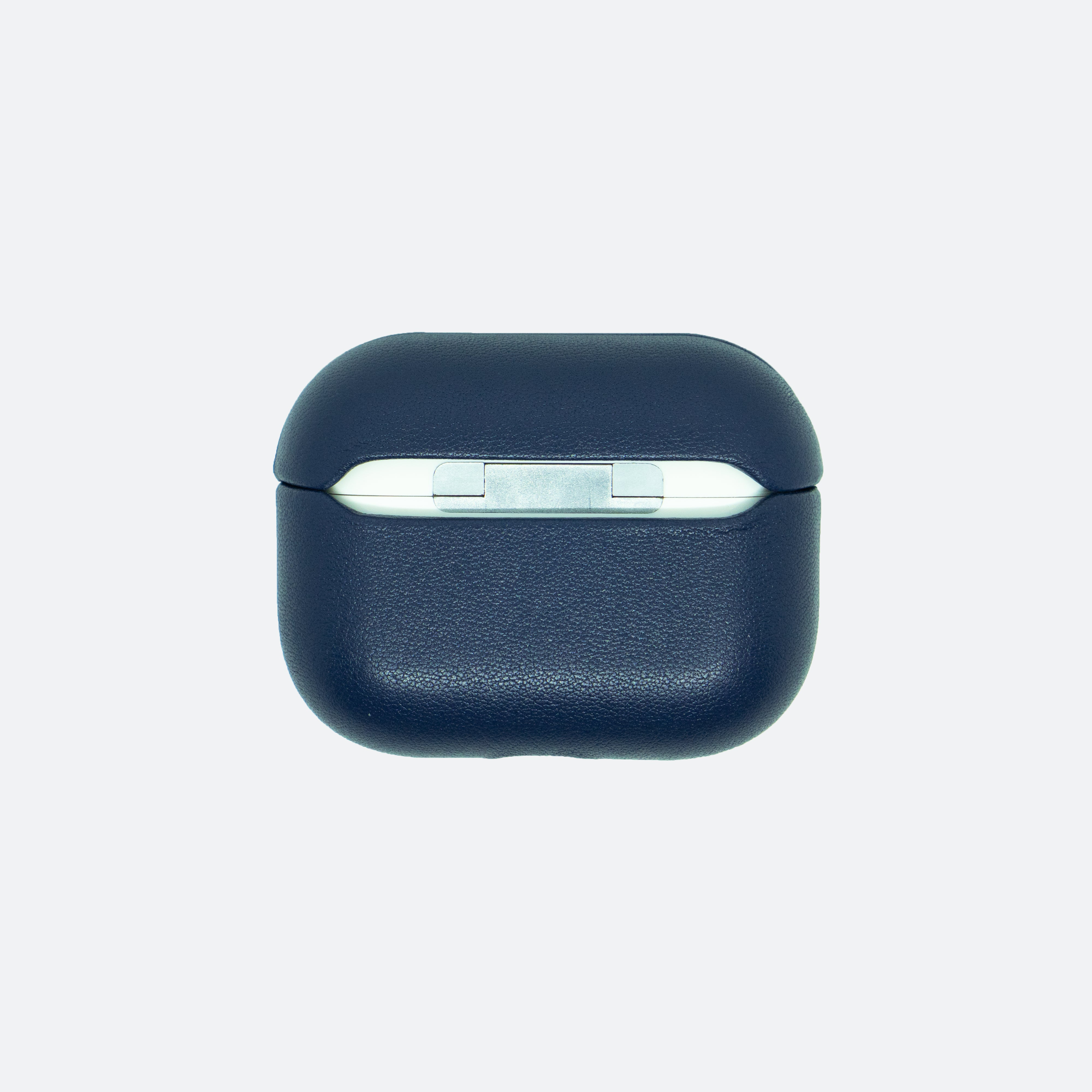 Personalised Midnight Navy Airpods Pro Case in Singapore with name engraving and customisation