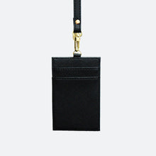 Load image into Gallery viewer, Rainne Saffiano Cardholder Lanyard - Black - Kastemize