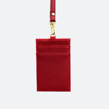 Load image into Gallery viewer, Rainne Saffiano Cardholder Lanyard - Red - Kastemize