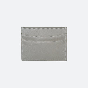 Blake Saffiano Card Holder in Ash Grey - Kastemize